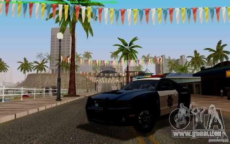 Ford Shelby Mustang GT500 Civilians Cop Cars pour GTA San Andreas vue intérieure
