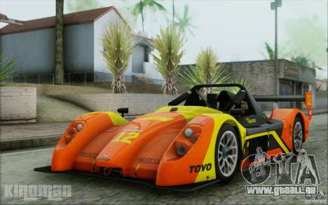 Radical SR3 RS 2009 pour GTA San Andreas vue de dessous