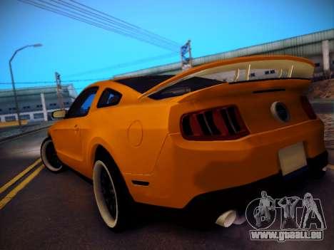 Ford Mustang GT 2010 Tuning pour GTA San Andreas sur la vue arrière gauche