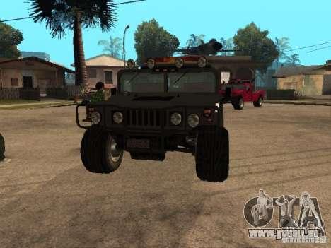 H1 HUMMER-LKW für GTA San Andreas Rückansicht