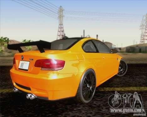 BMW M3 GT-S Fixed Edition pour GTA San Andreas vue arrière