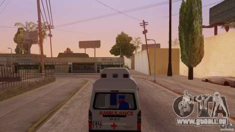Toyota Hiace Philippines Red Cross Ambulance für GTA San Andreas zurück linke Ansicht