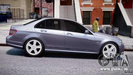 Mercedes-Benz C180 CGi Classic Special 2009 pour GTA 4 est une vue de l'intérieur
