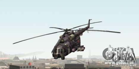 MIL MI-8 grau Camo für GTA San Andreas