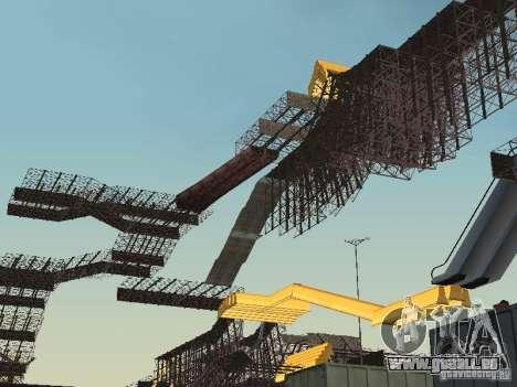 Huge MonsterTruck Track pour GTA San Andreas deuxième écran