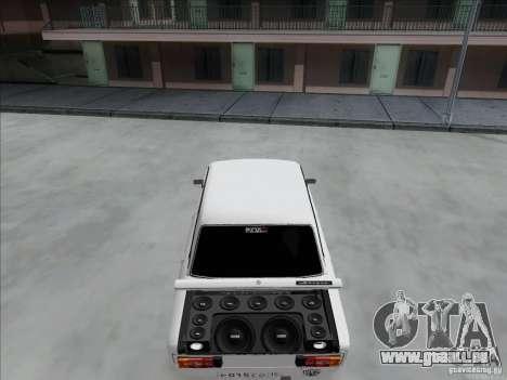 BPAN VAZ 2106 pour GTA San Andreas vue intérieure