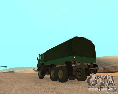 KAMAZ 4310 pour GTA San Andreas laissé vue