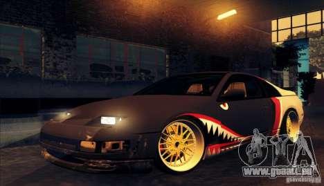 Nissan 300ZX Bad Shark pour GTA San Andreas sur la vue arrière gauche
