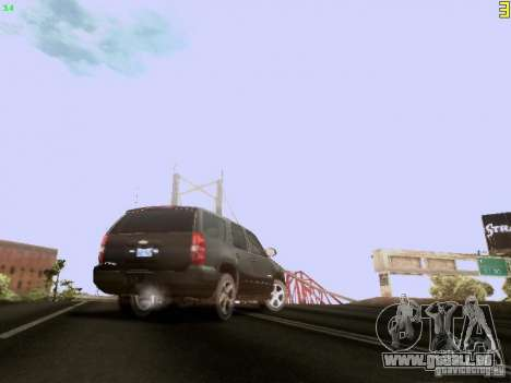 Chevrolet Tahoe 2009 Unmarked für GTA San Andreas Rückansicht