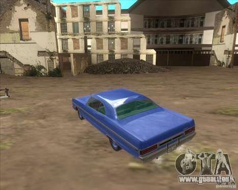 Plymouth Fury III coupe 1969 pour GTA San Andreas vue intérieure