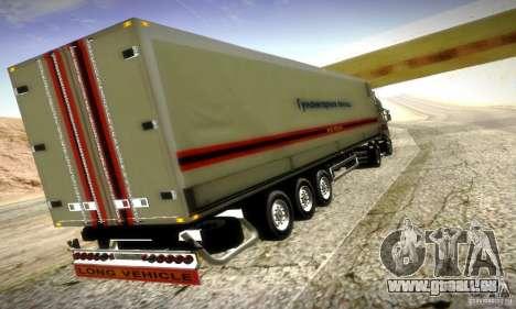 FEMA-Trailer-Russland für GTA San Andreas zurück linke Ansicht