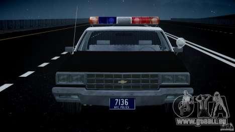 Chevrolet Impala Police 1983 [Final] pour GTA 4 Salon