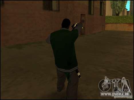 Waffe in einer hand für GTA San Andreas