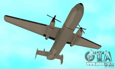 C-2 Greyhound für GTA San Andreas Innenansicht