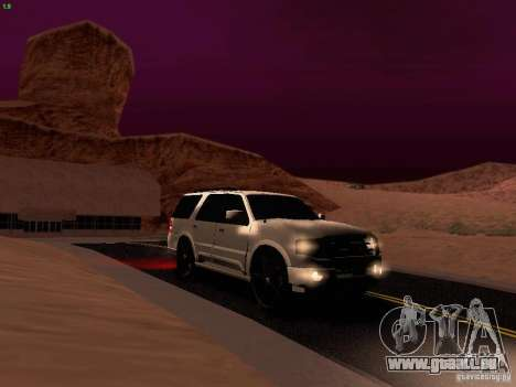 Ford Expedition 2008 für GTA San Andreas obere Ansicht