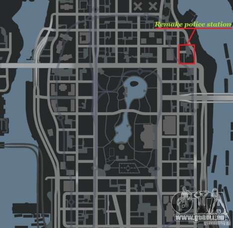 Remake police station pour GTA 4 quatrième écran
