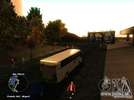 Bus Kramat Djati pour GTA San Andreas vue de droite