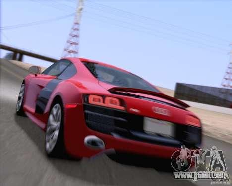 Audi R8 v10 2010 für GTA San Andreas obere Ansicht