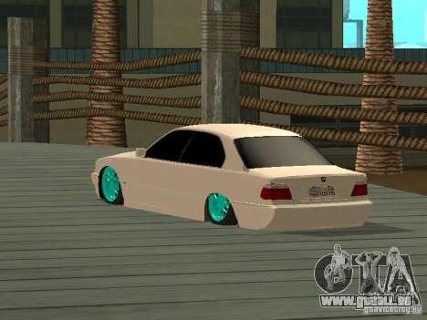 BMW 750i JDM pour GTA San Andreas laissé vue