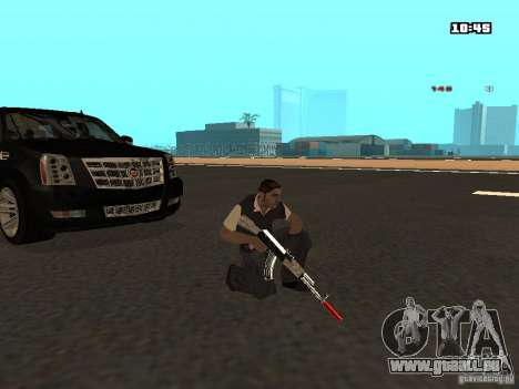 White Red Gun für GTA San Andreas sechsten Screenshot