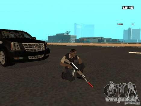 White Red Gun pour GTA San Andreas sixième écran