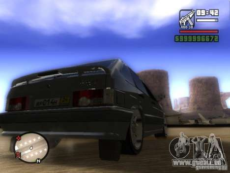 ВАЗ 2114 Tuning pour GTA San Andreas sur la vue arrière gauche