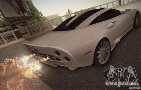 Spyker C8 Aileron für GTA San Andreas rechten Ansicht