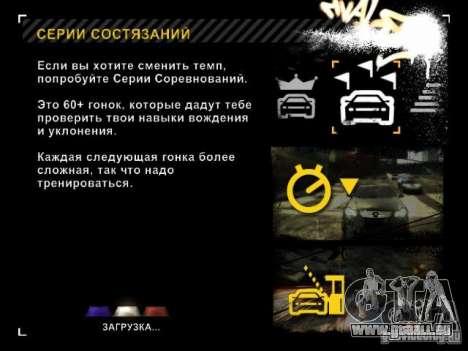 Chargement des écrans dans le style de NFS : Mos pour GTA San Andreas troisième écran