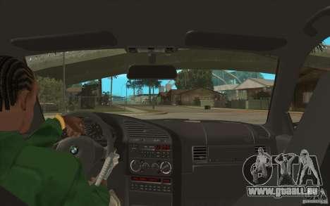 BMW M3 E36 für GTA San Andreas Innenansicht