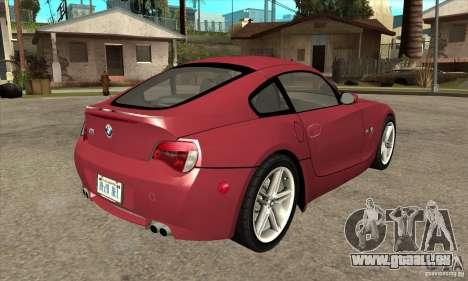BMW Z4 - Stock pour GTA San Andreas vue de droite