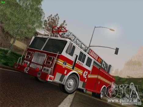 Seagrave Ladder 42 pour GTA San Andreas sur la vue arrière gauche