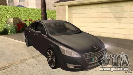 Peugeot 508 2011 EU plates pour GTA San Andreas vue arrière