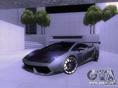 Lamborghini Gallardo Racing Street pour GTA San Andreas vue de dessus
