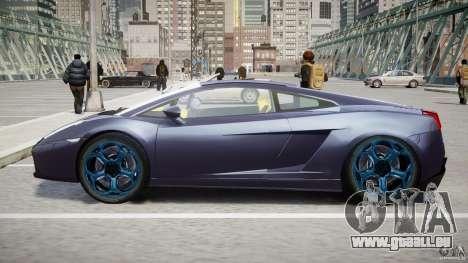 Lamborghini Gallardo Superleggera pour GTA 4 est une vue de dessous