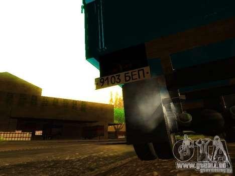 ZIL 131 Cupid für GTA San Andreas obere Ansicht