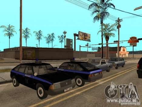 AZLK 21418 patrouiller pour GTA San Andreas vue intérieure