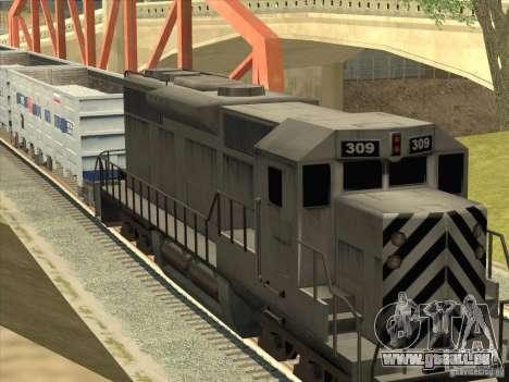 Wagon-tombereau 12-196-01 pour GTA San Andreas sur la vue arrière gauche