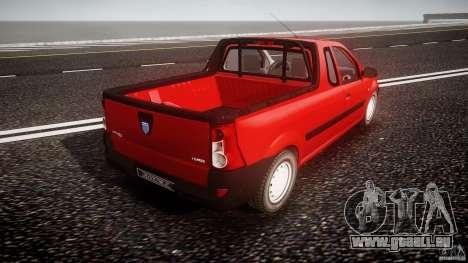 Dacia Logan Pick-up ELIA tuned pour GTA 4 vue de dessus