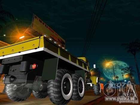 Camion KrAZ Parade pour GTA San Andreas sur la vue arrière gauche
