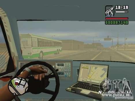 GMC Sierra Tow Truck für GTA San Andreas obere Ansicht