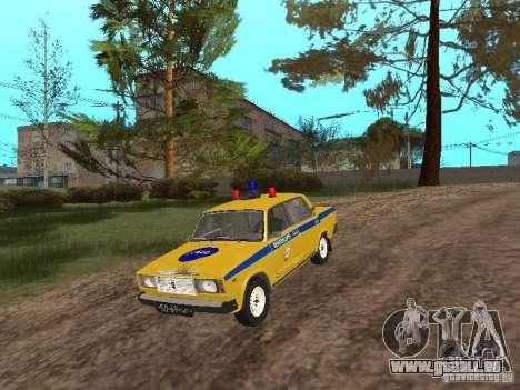 VAZ 2107 AUTO INSPEKTION für GTA San Andreas rechten Ansicht
