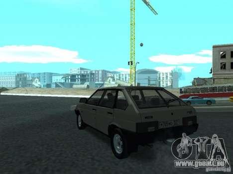 VAZ 2109 CR c. 2 pour GTA San Andreas sur la vue arrière gauche