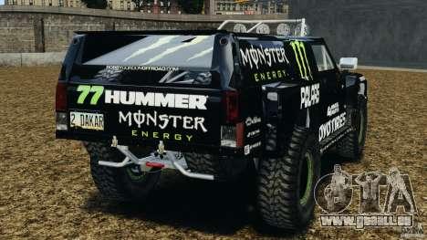 Hummer H3 raid t1 pour GTA 4 Vue arrière de la gauche