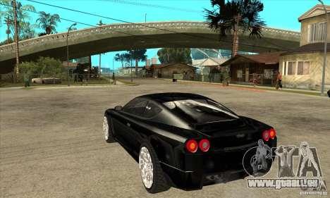 GTA IV SuperGT pour GTA San Andreas sur la vue arrière gauche