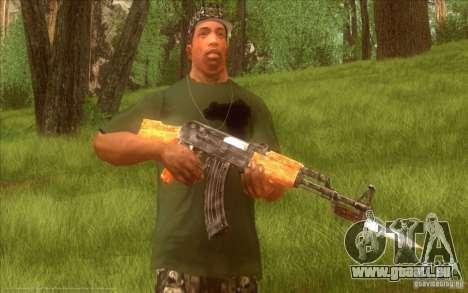 Kalashnikov HD pour GTA San Andreas cinquième écran