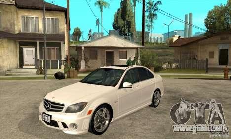 Mercedes-Benz C63 AMG 2010 für GTA San Andreas Seitenansicht