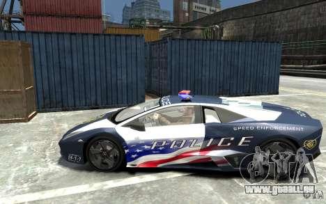 Lamborghini Reventon Police Stinger Version pour GTA 4 est une gauche