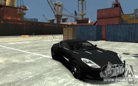 Aston Martin One 77 pour GTA 4 Vue arrière
