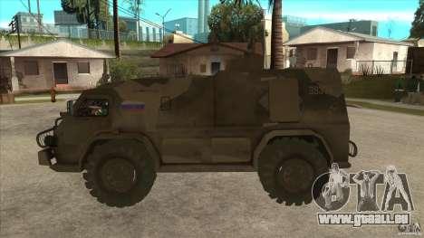GAZ 39371 Vodnik pour GTA San Andreas laissé vue