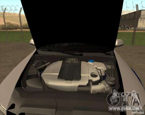 Audi RS6 2010 DPS pour GTA San Andreas vue arrière
